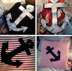 It's All Happening: anchors away! DIY anchor pillow tutorial