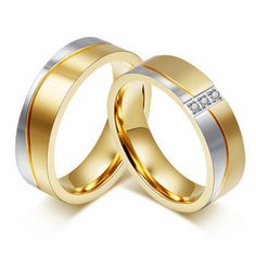 Cheap wedding rings for couples, Buy Quality crystal ring directly from China wedding rings Suppliers: Wedding Ring for Couple Trendy Gold-color CZ Stone Promise Jewelry High Quality Crystal Ring Wedding Rings For Women, Wedding Ring Bands, Rings For Men, Trendy Wedding, Stainless Steel Wedding Bands, Stainless Steel Rings, Alliance Ring, Couple Rings, Titanium Rings