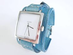 Turquoise Watch Women wrist watch Leather watch cuff