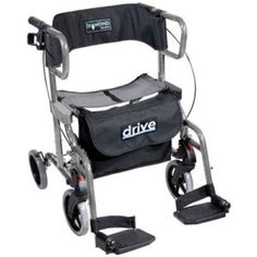 This walker wheelchair encourages mobilising yet caters for the need keep moving when tired, and out and about. Simple and cost effective alternative to a wheelchair and Rollator.