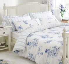 bedroom with light blue flowered comforter | Home, Furniture & DIY > Bedding > Other Bedding