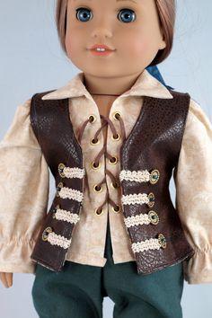 The Captain's Waistcoat Pirate vest for 18 boy von BedsnBlankies