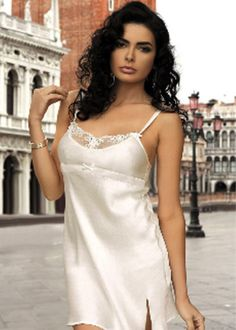 nightie pattern in Russian Satin Lingerie, Vintage Lingerie, Satin Slip, Silk Satin, Sewing Bras, Silk Chemise, Couture, Nightwear, Just In Case