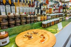 """Vinegar, salsas, and jams at one of the Bologna markets - """"Nature's Best is On Display at Food Markets in Bologna"""" by @traveleraddicts"""