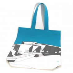 People Will Always Need Plates The Hepworth Wakefield Canvas Bag: Canvas bag with an illustration of The Hepworth Wakefield building screenprinted on the front and back. It has a wide gusset and is made from a heavy duty canvas making it strong and durable. Designed by People Will Always Need Plates - based in the UK.
