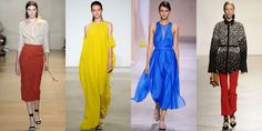TOP SPRING '16 TRENDS - SMALL PLEATS -Well, it looks we're downsizing on those carwash pleats that are so big for fall 2015. Instead designers such as Altuzarra, Tome, Boss, and Proenza Schouler have turned their sights towards a tinier, tighter knife pleat.    - ELLE.com