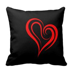 "Love and Romance "" Red Heart "" - Pillow."