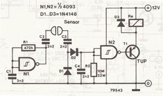 Sensor and Detector Liquids Circuit Diagram: