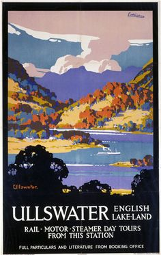 travel poster - The lake district, Ullswater