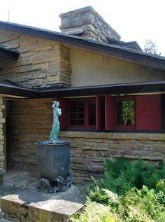 Органическая архитектура: Фрэнк Ллойд Райт (Frank Lloyd Wright): Taliesin III, Spring Green, Wisconsin (Тейлизин III, Спринг-Грин, Висконсин), 1925