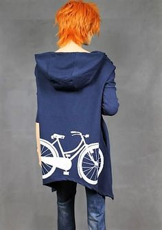 Blouse with painted bike back