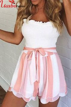 Pinkish Bow Tie Shorts Available In Pink Striped High Waist Adjustable Polyester Tie Shorts, Belted Shorts, Striped Shorts, High Waisted Shorts, Boho Shorts, Ruffle Shorts, Sexy Shorts, Short Outfits, Summer Outfits