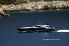 Leopard cruising near Villefranche sur Mer Villefranche Sur Mer, Luxury Yachts, Sailboats, Aircraft, Ships, Sea, World, Amazing, Beautiful
