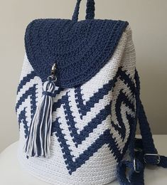 New Designs for FREE crochet bag pattern images Easy And Stylish! - Page 61 of 61 - Beauty Crochet Patterns! Crochet Backpack Pattern, Free Crochet Bag, Bag Pattern Free, Crochet Basket Pattern, Crochet Patterns, Crotchet Bags, Knitted Bags, Crochet Handbags, Crochet Purses