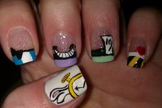 Alice in Wonderland Nails.... I remember doing these for my cousins bridal shower :)