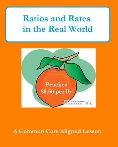 I would use this to teach Ratios and Rates in the Real World, to connect math to real world concepts.