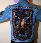 Image of SICK X YOUNG GUNS 'TREASURE' denim jacket SMALL