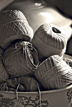 Linen Twine..oh how I miss my mother..she was a wonderful crocheter