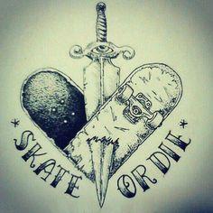 Skate Or Die Tattoo
