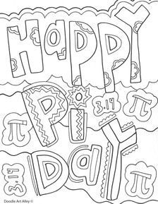 Happy Pi Day! Color this pi coloring page for a chance to