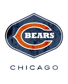 Chicago Bears Gridiron League Logo by Wes Kull Bears Football, Nfl Chicago Bears, Chicago Cubs Logo, Football Helmets, Chicago Illinois, Chicago Chicago, Chicago Blackhawks, Pittsburgh Steelers, Logo Design