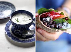 My New Roots: Meatless Mondays with Martha Stewart - Black Chickpea Wraps with Tarragon Yogurt