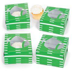 Football Cupcake Boxes - OrientalTrading.com