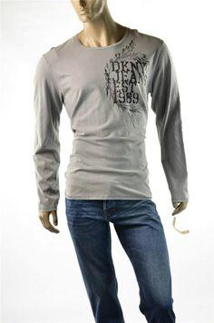 c4fa51714b8b DKNY T-shirt NEW Urban Mens Tee L/S Shirts Cotton Crew T Shirt Sz XL Large  New   eBay