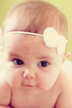 Baby Headband Christening Bow Girls by AnnabelleCollection on Etsy, $7.95