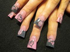 Pink valentines by - Nail Art Gallery by Nails Magazine Acrylic Nail Designs, Nail Art Designs, Acrylic Nails, Nails Design, Acrylics, Valentine Nail Art, Holiday Nail Art, Fabulous Nails, Gorgeous Nails