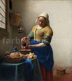 """""""La Laitière"""" / """"The Milkmaid"""", Johannes Vermeer © Rijksmuseum Amsterdam Johannes Vermeer, Caravaggio, The Milkmaid Vermeer, National Gallery Of Art, Art Gallery, Online Gallery, Painting Frames, Painting Prints, Art Print"""