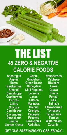 The Negative & Zero Calorie Foods List. Our incredible alkaline rich, antioxidant loaded, weight loss product helps you burn fat and lose weight more efficiently without changing your diet, increasing your exercise, or altering your lifestyle. LEARN MORE #Zero #Negative #Calorie #FatBurning #WeightLoss #Fruits #Vegetables #Foods 0 Calorie Foods, Negative Calorie Foods, Low Calorie Recipes, 1200 Calorie Diet, Diet Foods, Diet Products, Weight Loss Products, Fitness Plan, Fitness Diet