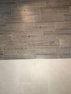 Wood Trails Batona Gray w/ Habitat Oyster tile Wood, Home, Hardwood, Hardwood Floors, Flooring, Saratoga Homes