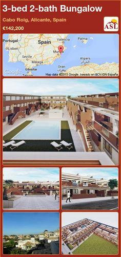 3-bed 2-bath Bungalow in Cabo Roig, Alicante, Spain ►€142,200 #PropertyForSaleInSpain