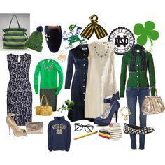 """Love Thee Notre Dame! Go Irish!"" by tennnischik on Polyvore"