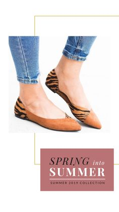 4ed03b74c3ccd Animal Print Accent FlatsMade out of faux suede, these flats feature a  classy pointed toe