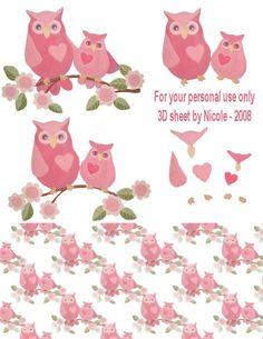 xpink 3D owls
