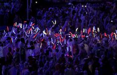 Team GB Rocked Up To Olympic Closing Ceremony Wearing Flashing 'Disco' Shoes