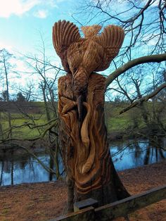 Another great tree trunk sculpture!