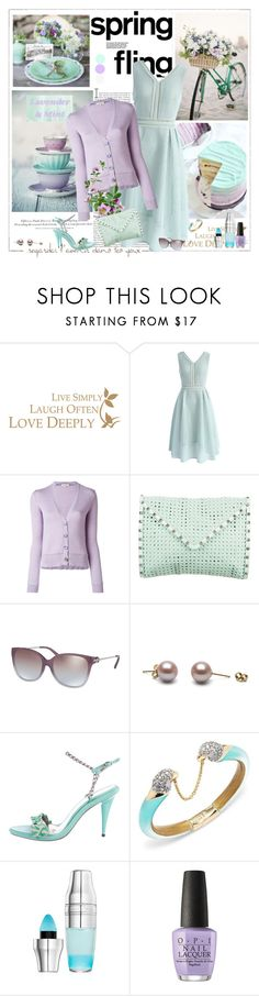 """""""Spring in Lavender and Mint"""" by likepolyfashion ❤ liked on Polyvore featuring H&M, WALL, Chicwish, Etro, Rebecca Minkoff, Michael Kors, STELLA McCARTNEY, Alexis Bittar, Lancôme and OPI"""