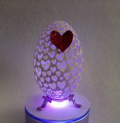 Sale Goose Egg Shell Carved Unique Gift I give you my