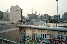 East Berlin building as seen from the western side of a Checkpoint, probably at Chausseestrasse.