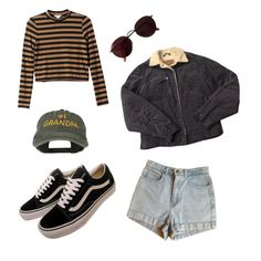 """Untitled #18"" by ciassic on Polyvore featuring Vans, American Apparel, Monki, Levi's and Ray-Ban"