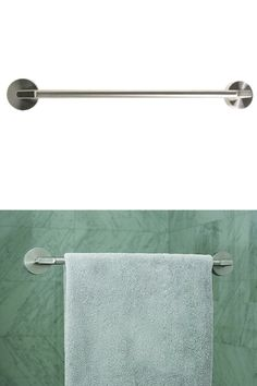 Stainless Steel Friction Mount Towel Bar - Attach almost anywhere. Towel Bar Height, White Lace Curtains, Bathroom Towel Decor, Painting Ceramic Tiles, Man Of The House, Bathroom Cleaning Hacks, Glass Shower Doors, Glass Door, Shower Liner