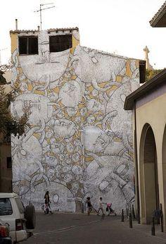 Italian street artist Blu | great urban artists, street art online, urban art, graffiti art