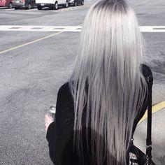 Grey silver hair colour