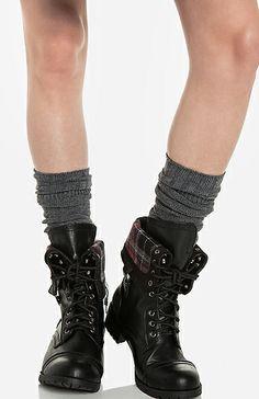 Fair Isle Knee High Socks + Fold Overs ~