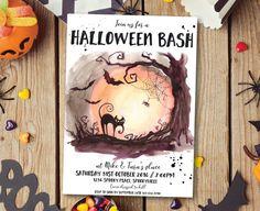 Halloween invitation Halloween party invitation Halloween