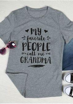 The Worlds Best Tops at Amazing Price - Grandma Shirt - Ideas of Grandma Shirt - My Favorite People Call Me Grandma Family Shirts, Mom Shirts, Shirts With Sayings, Cute Shirts, T Shirts For Women, Grandma T Shirts, Grandma Quotes, Mothers Day Shirts, Vinyl Shirts