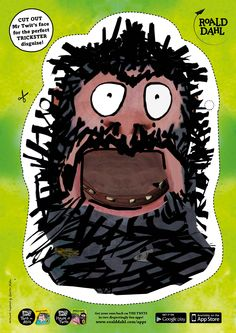 Cut out Mr Twit's face for the perfect trickster disguise! #Halloween #RoaldDahl #TheTwits